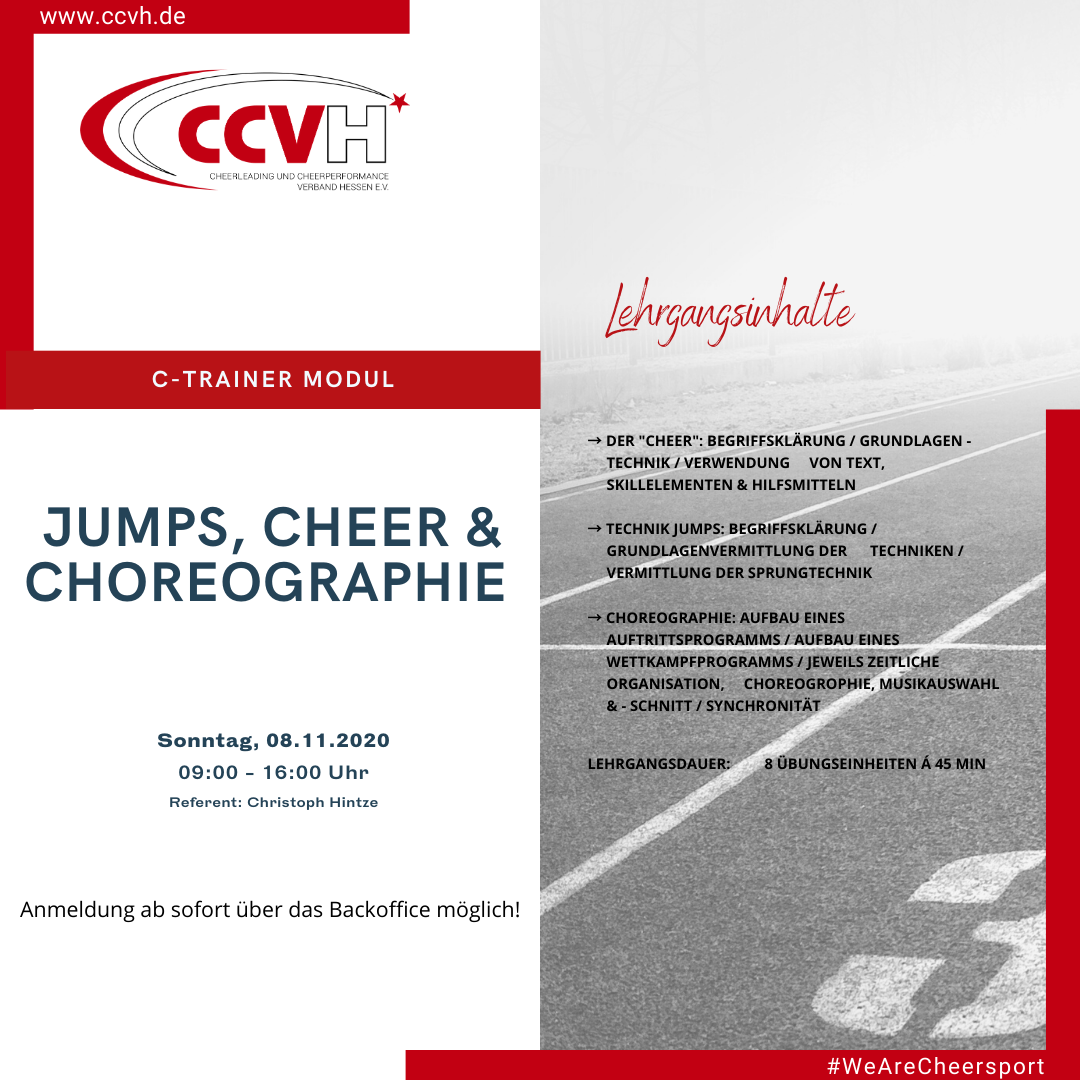 C-Trainer Modul – Jumps, Cheer & Choreographie