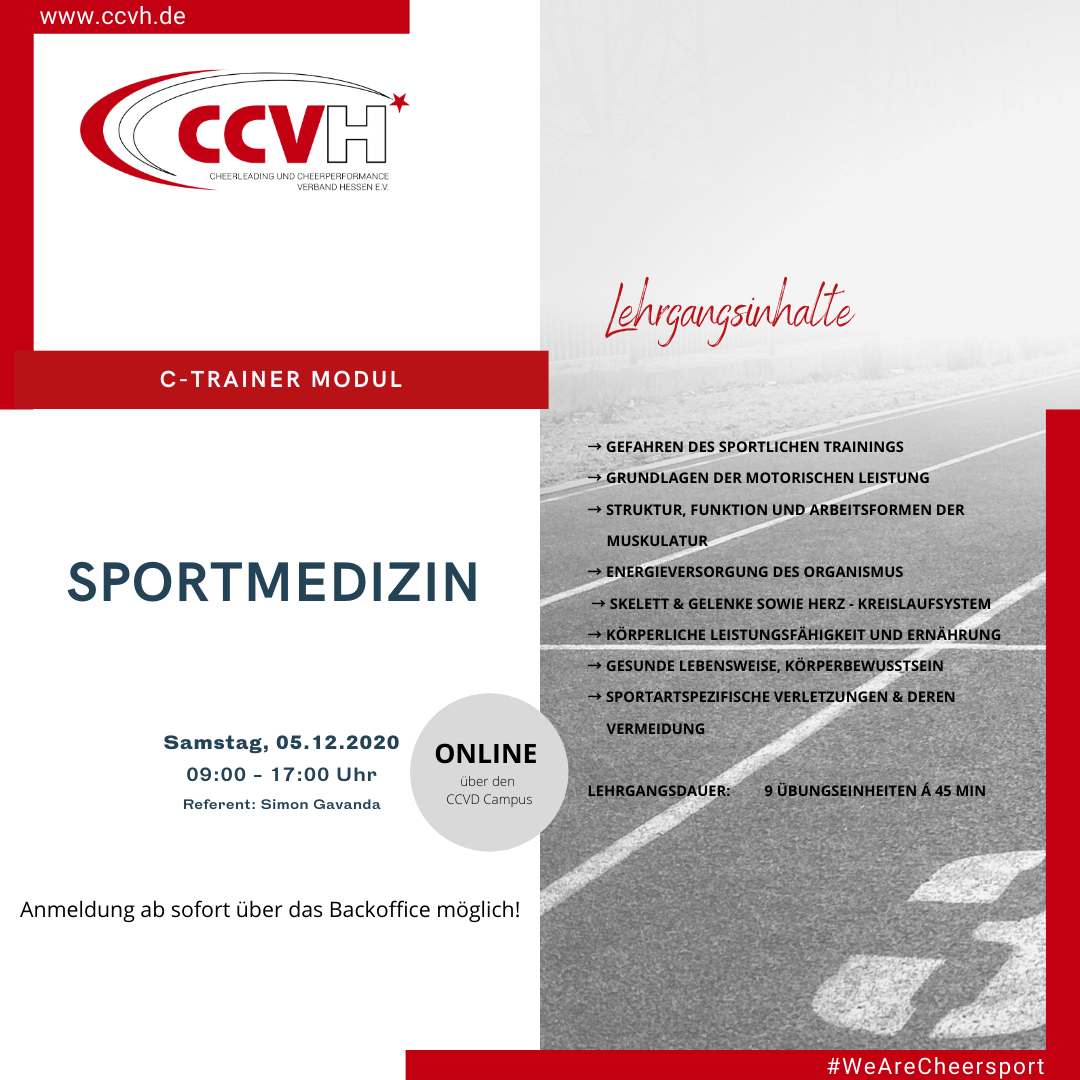 C-Trainer Modul – Sportmedizin