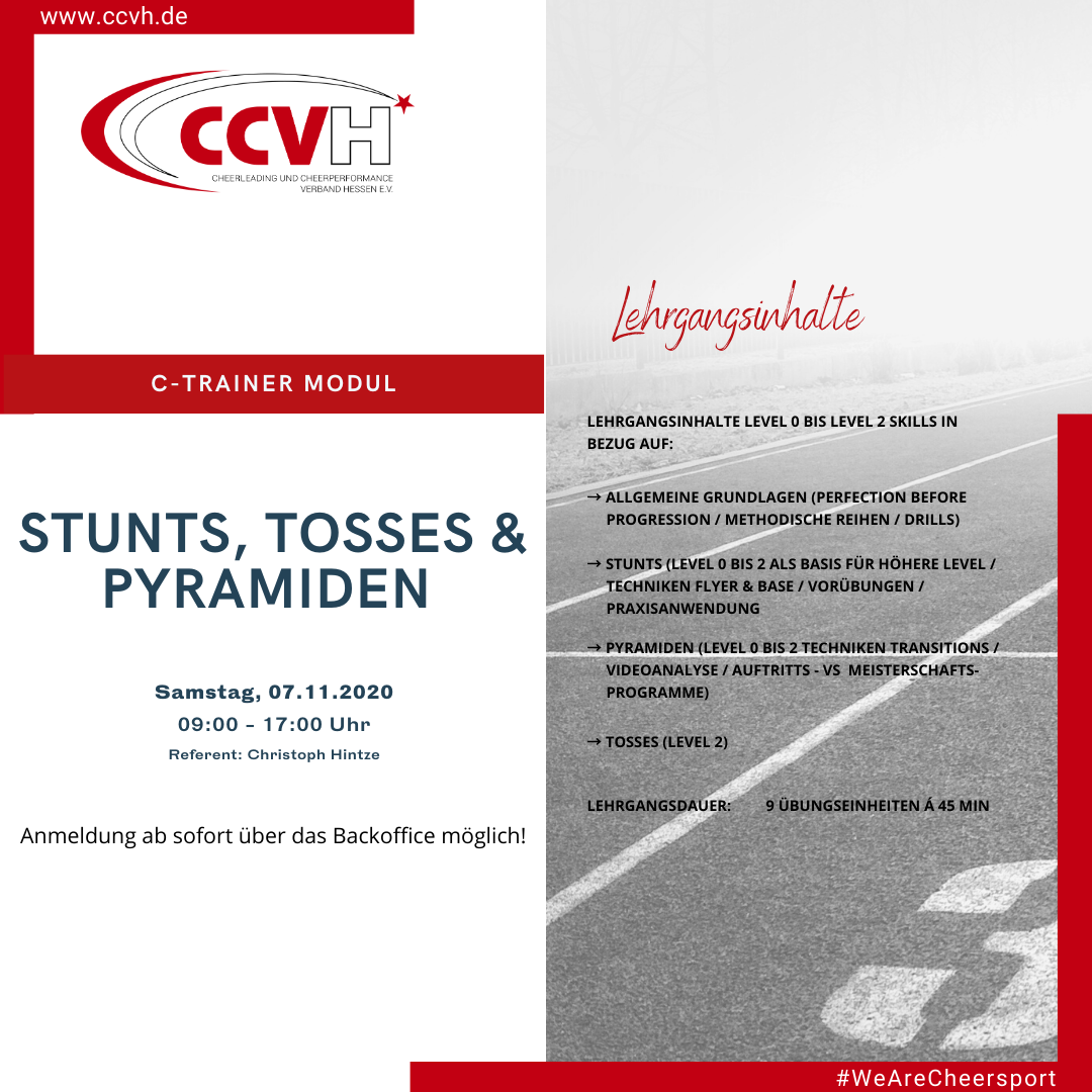 C-Trainer Modul – Stunts, Tosses & Pyramiden